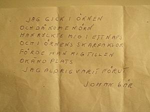 Johans (6 år) dikt